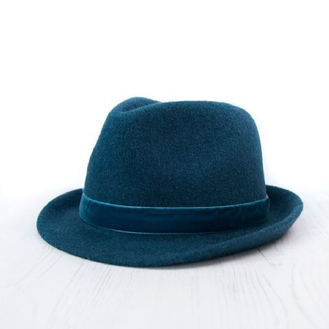 TEAL MIX FEDORA STYLE HAT